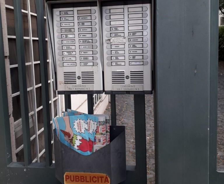 Volantinaggio cassette postali roma